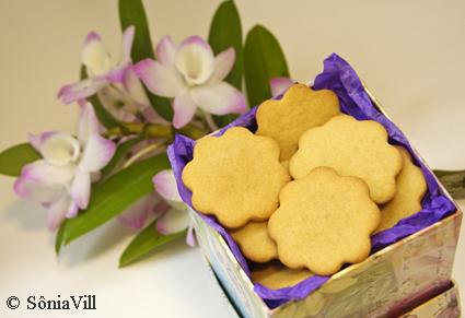 Biscoitinhos da primavera (com gengibre)