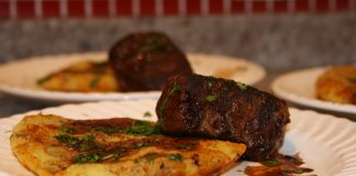filet com batata rosti
