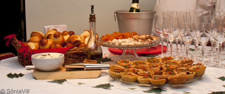 Brioches e azeite aromatizado (Jantar de natal, 1ª parte)