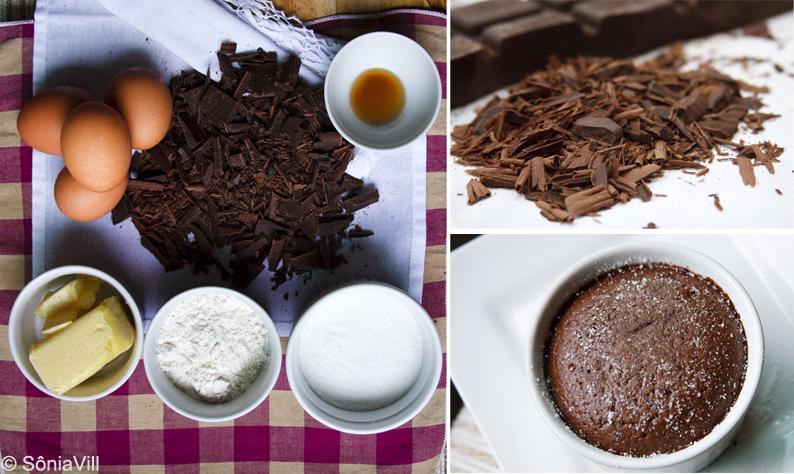 Delicioso bolinho de chocolate ou Moelleux