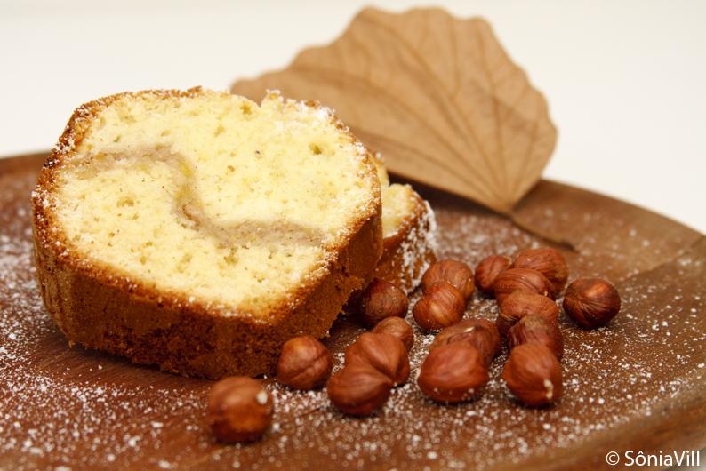 bolo banana avelãs