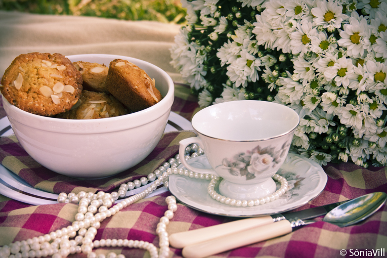 Muffins de chocolate branco