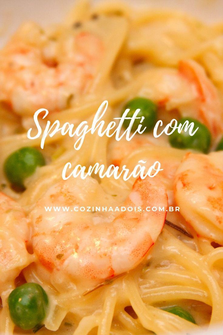 spaghetti camarão