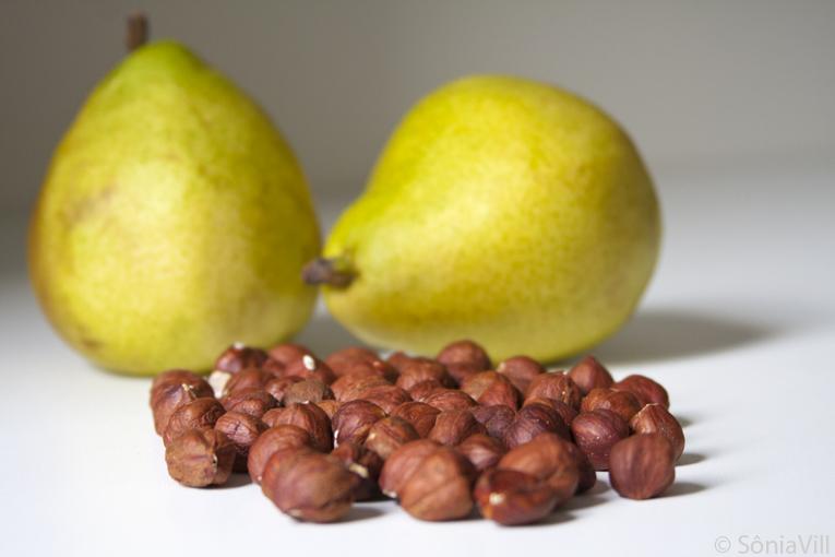 peras avelãs