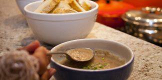 pinhão, sopa, carne seca