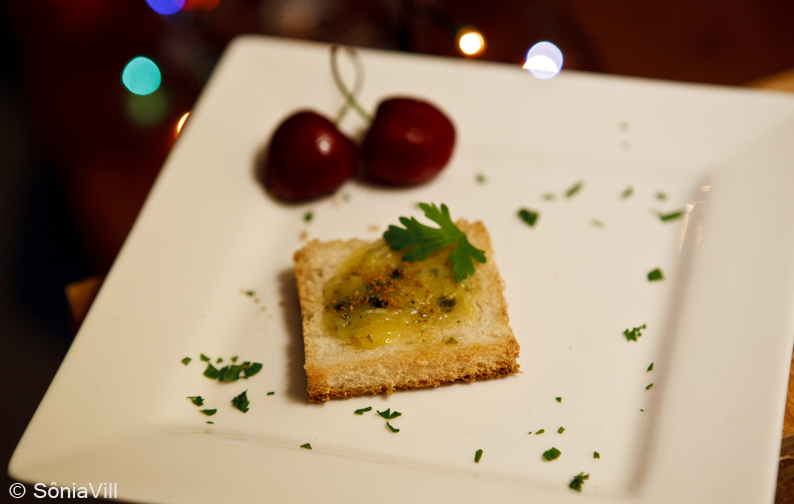 Canapés de manteiga de ostras com bottarga (jantar da Quorum 2ªparte)