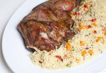 paleta de cordeiro couscous marroquino