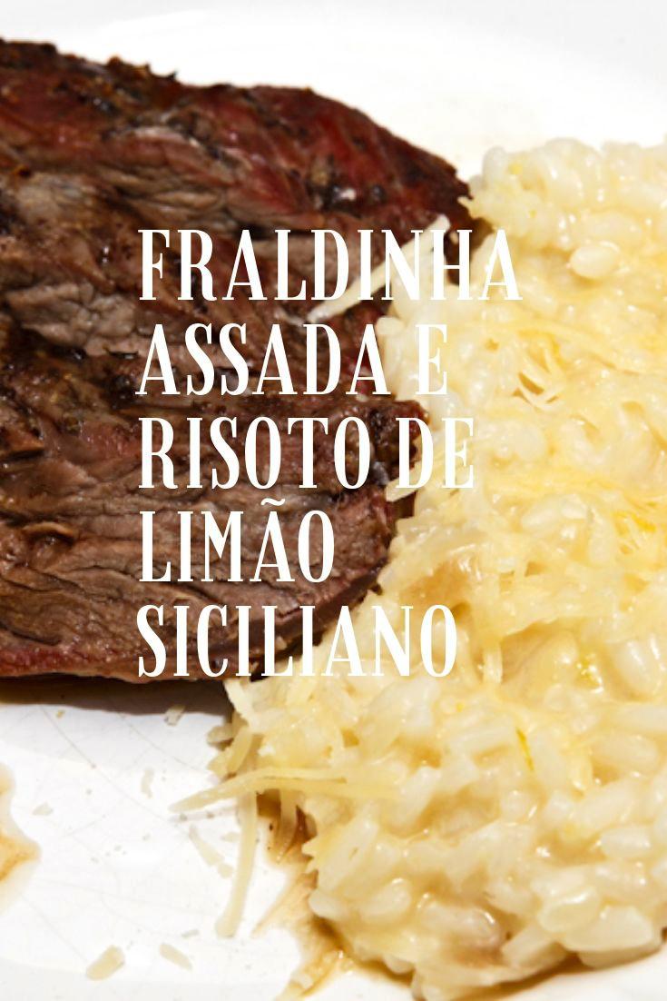Fraldinha assada e risoto de limão siciliano