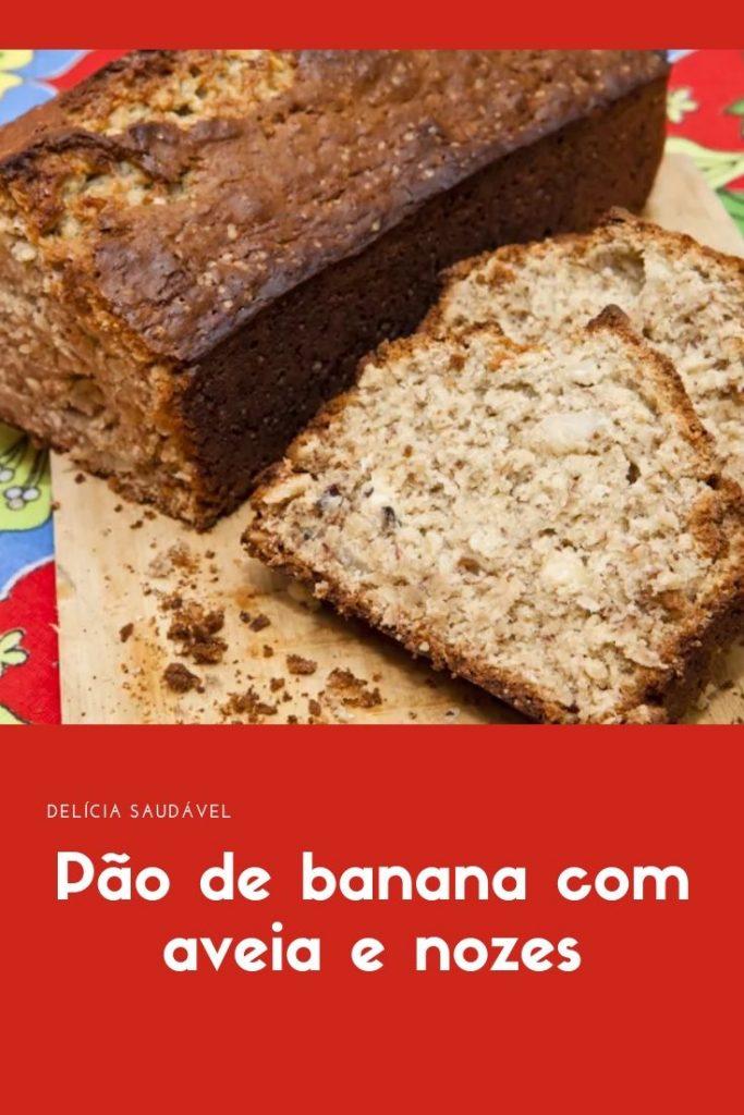 Pão de banana com aveia e nozes