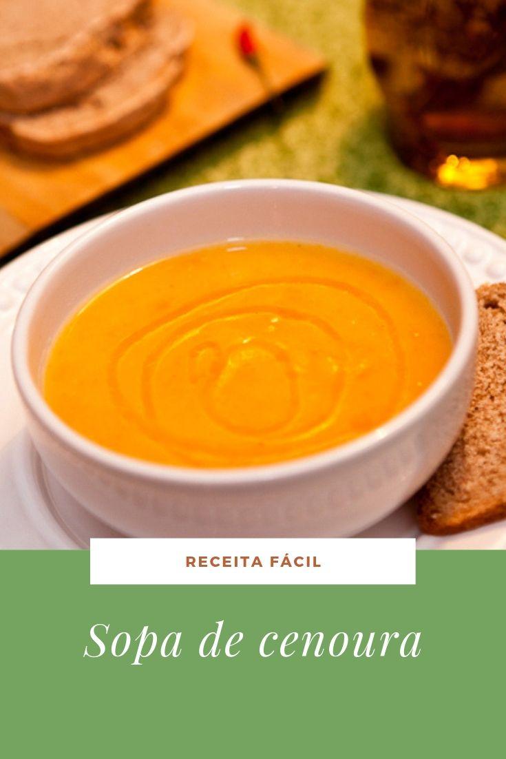 sopa fácil cenoura creme