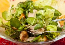 Salada de inverno com frango e outras delícias