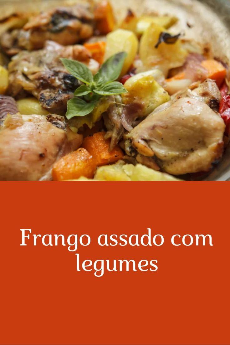 frango assado com legumes