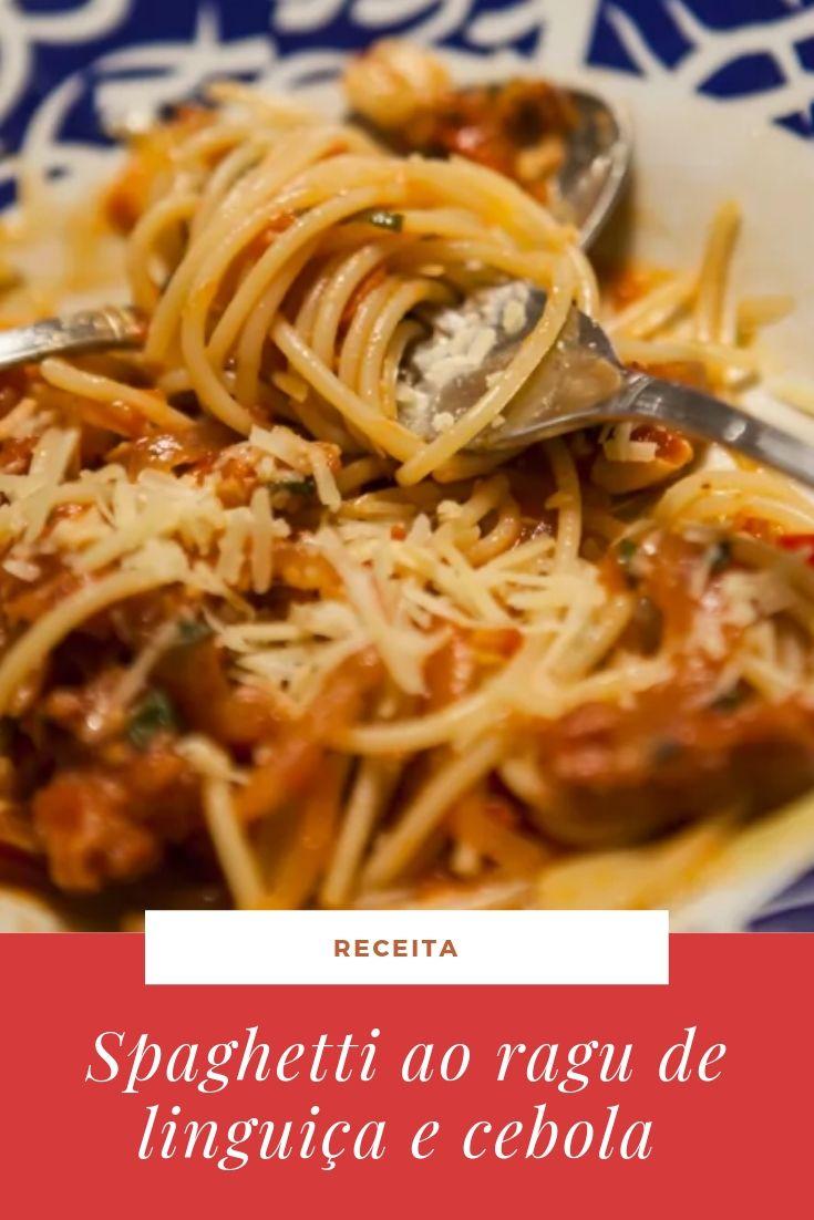 spaghetti-ragu-linguiça-cebola