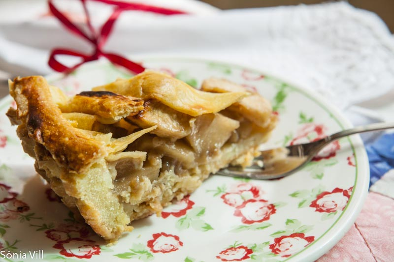 Apple pie ou a torta de maçã da vó Medie