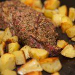 Maminha assada com batatas