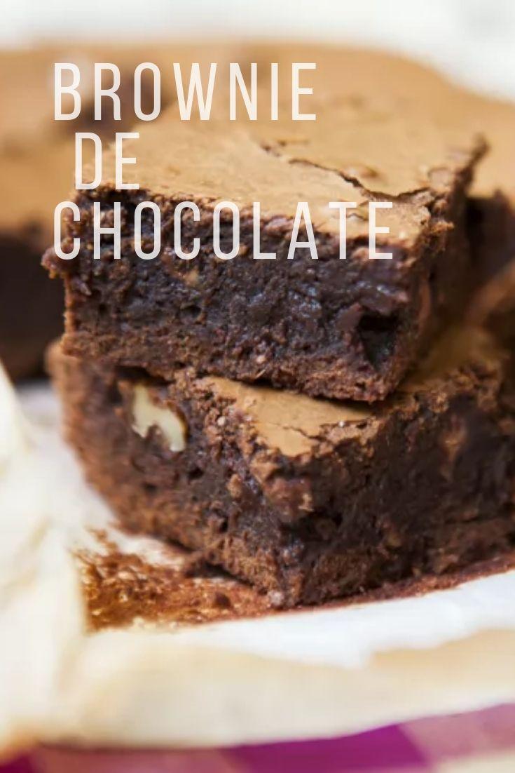 Brownie chocolate nozes