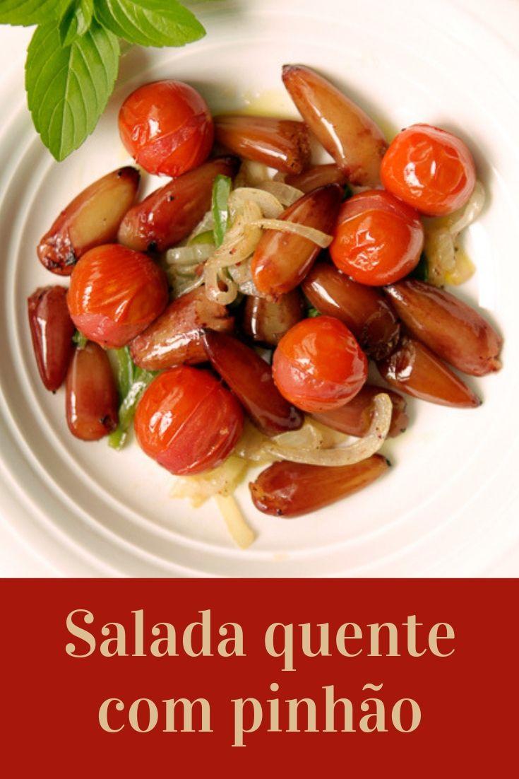 salada pinhao cebola e tomate