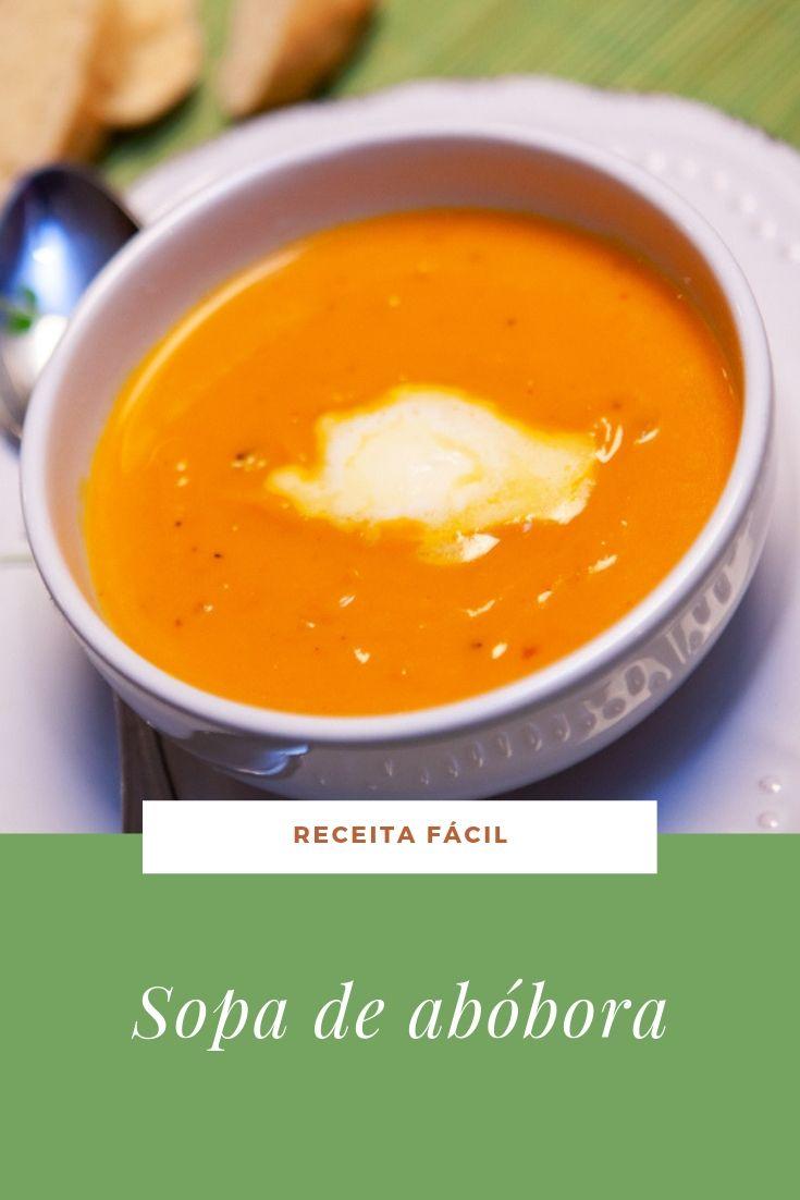 receita fácil sopa abóbora