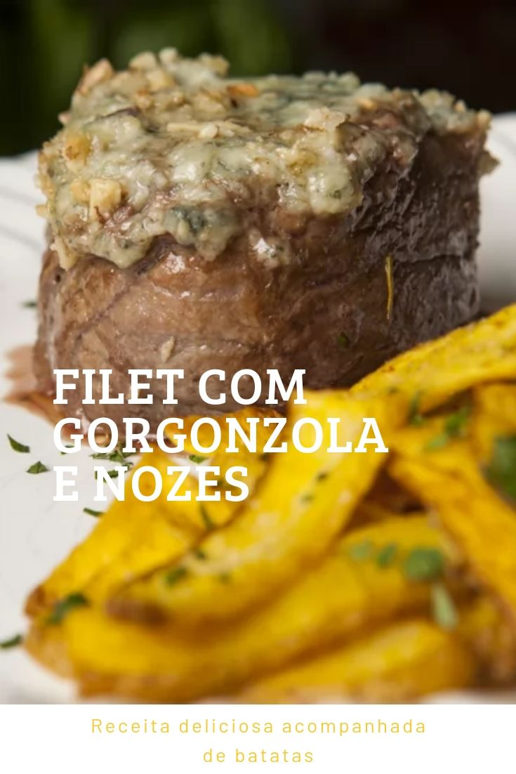 Filet gorgonzola nozes