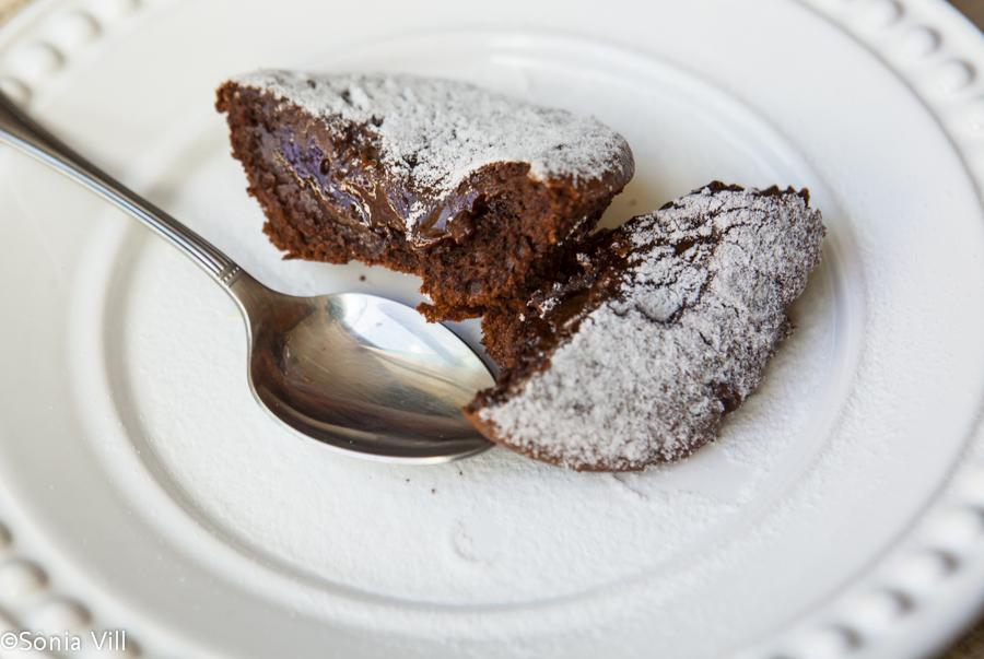 Petit gâteau de chocolate