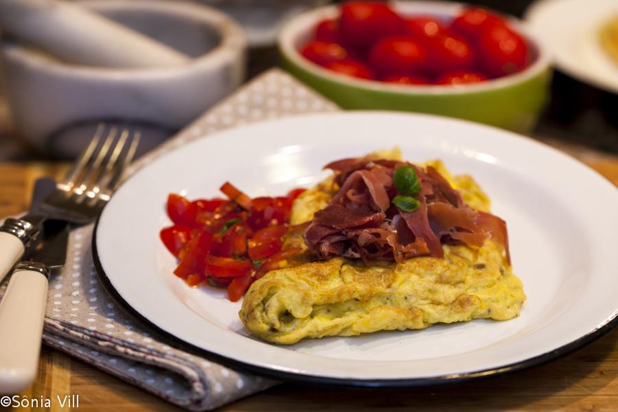 Omelete com jamon serrano