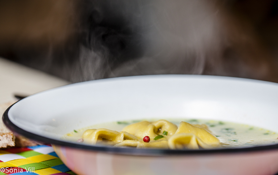 sopa  capeletti caseiro