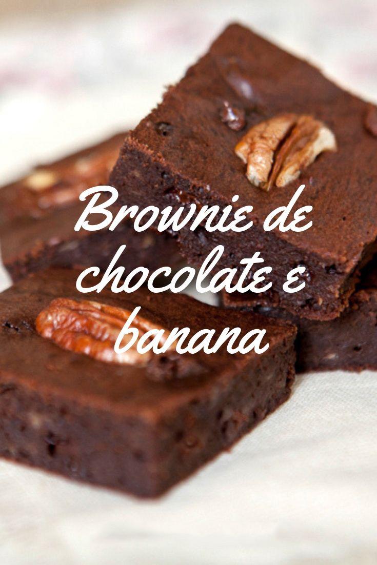 Brownie chocolate banana
