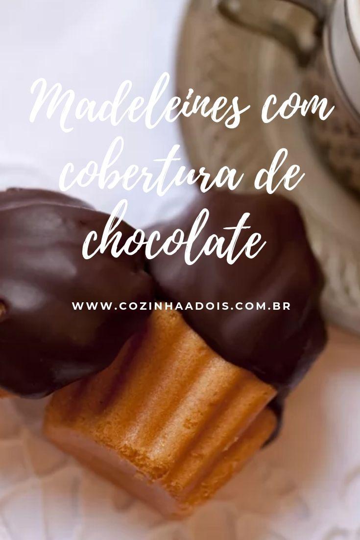 madeleines cobertura chocolate