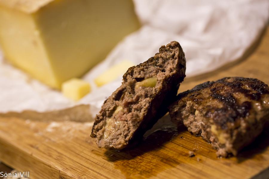 hamburguer queijo recheio