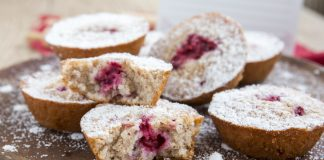 muffins framboesas amendoas