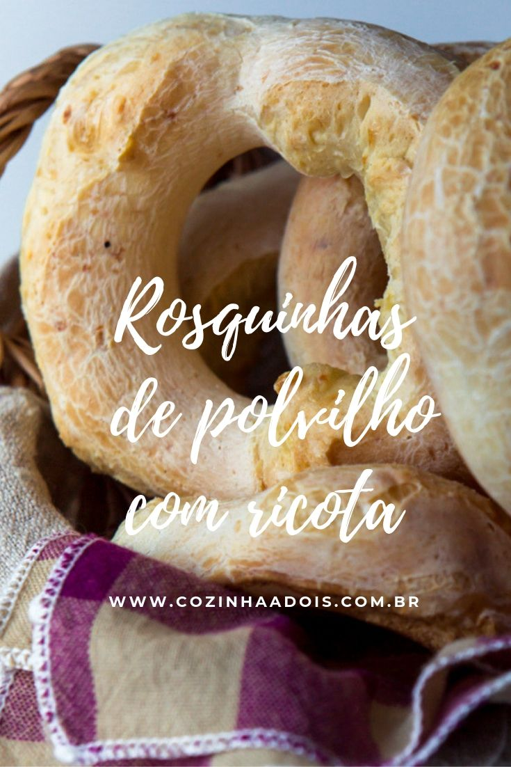 Rosquinha-polvilho ricota