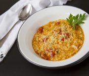 Risoto de tomate seco e salsão