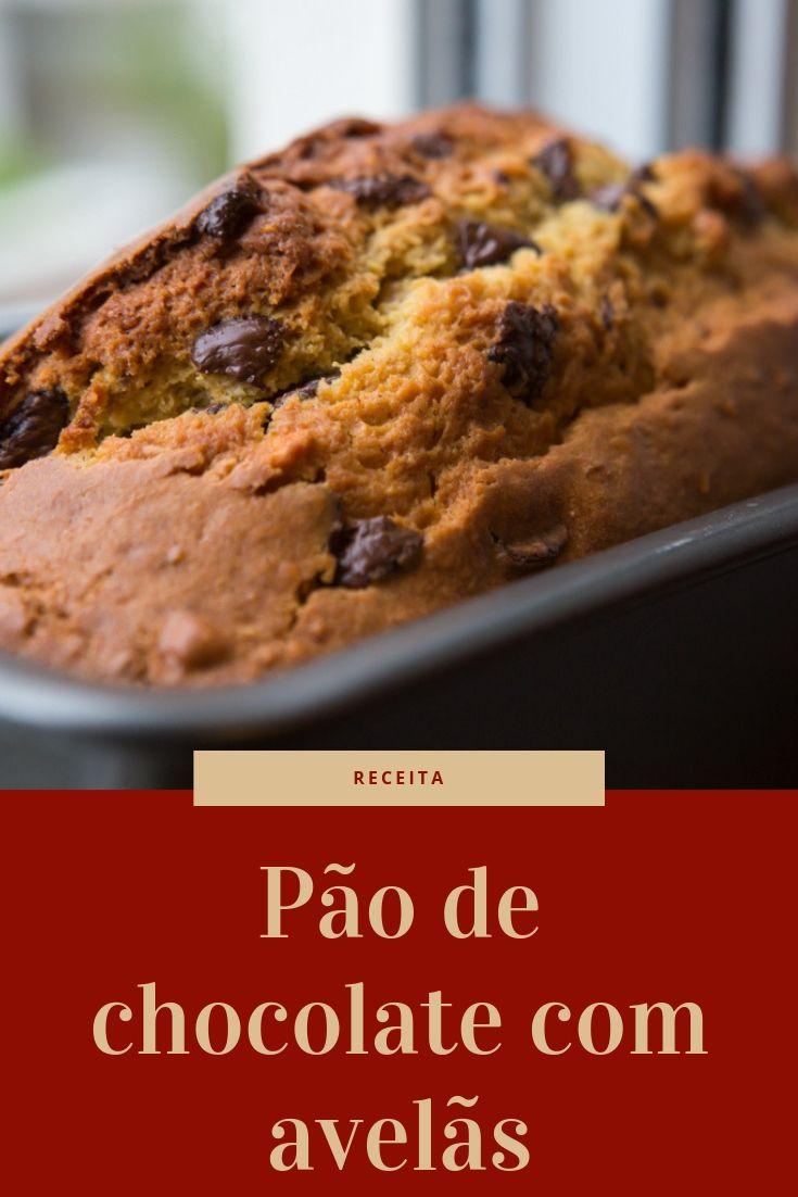 Pão de chocolate com avelãs