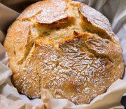 Pão caseiro de longa fermentação