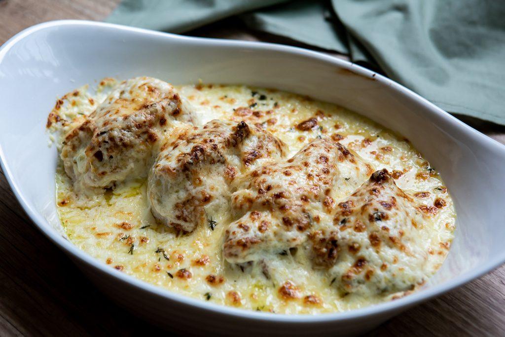frango queijo gratinado