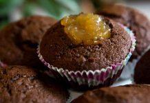 cupcake chocolate recheio de geleia cupuaçua