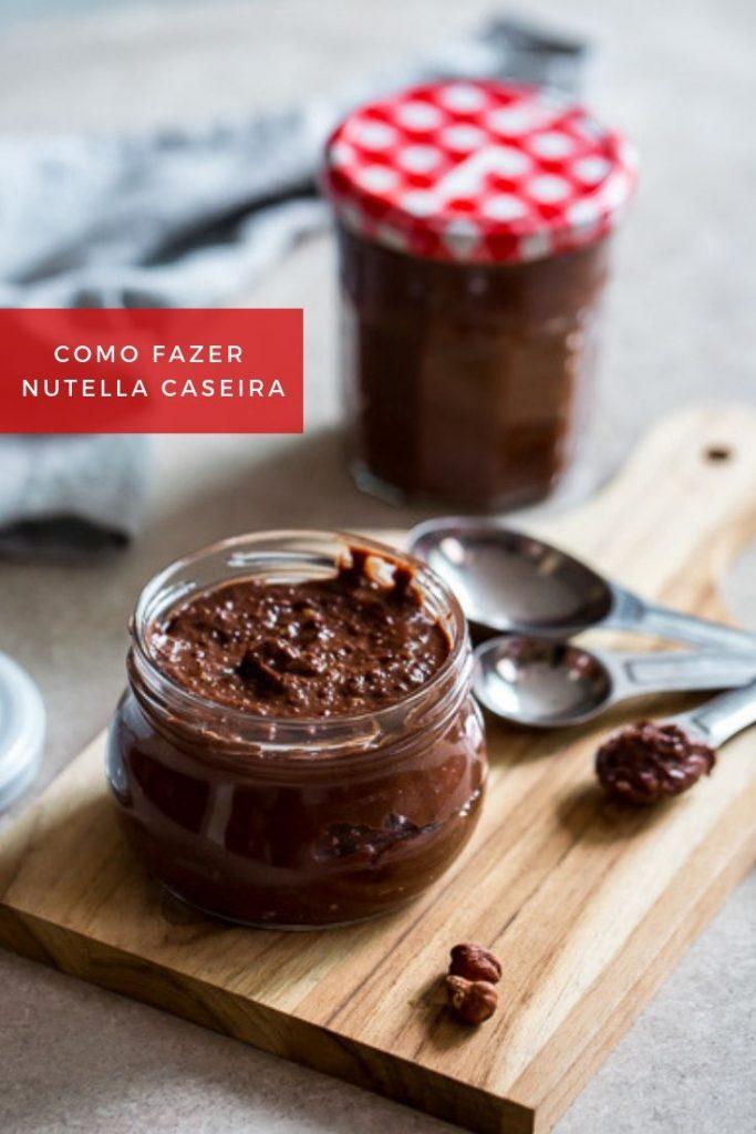 como fazer Nutella caseira