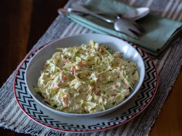 Receita de salada de repolho e maionese