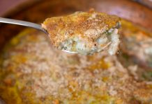 Torta de salmão com inhame